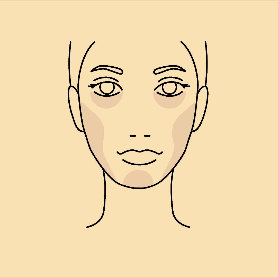 Zeichnung einer Frau, die dank Hyaluron Fillern mehr Volumen im Gesicht hat.