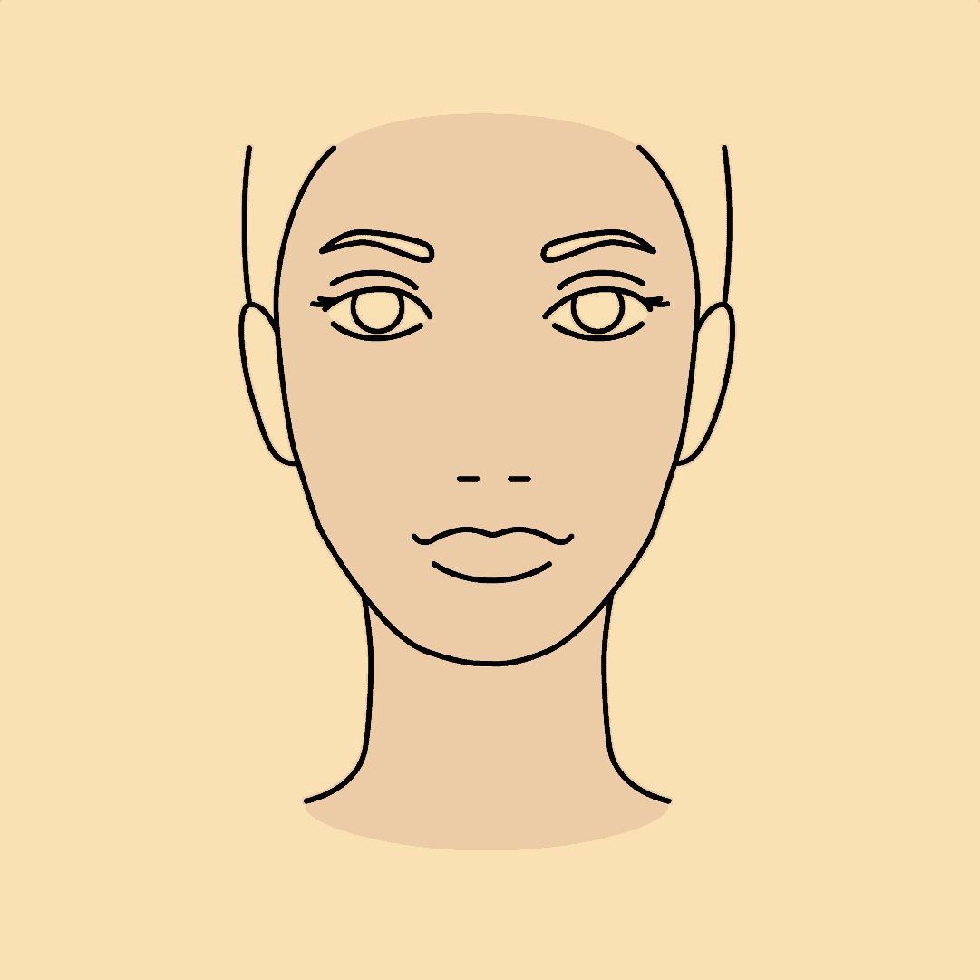 Zeichnung einer Frau, die dank Hyaluron Fillern einen Glow-Effekt im Gesicht hat.