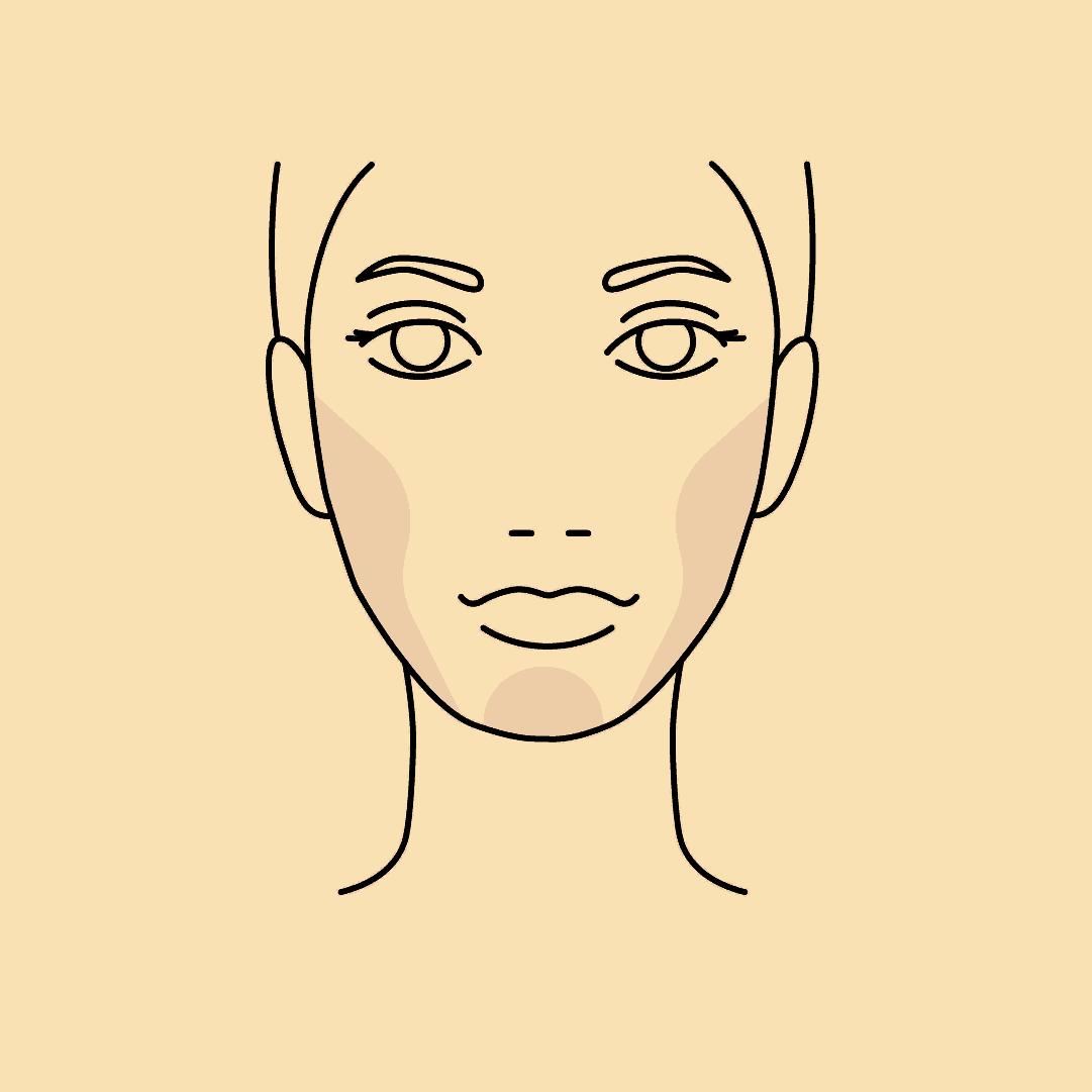 Zeichnung einer Frau, die dank Hyaluron-Fillern mehr Konturen im Gesicht hat.